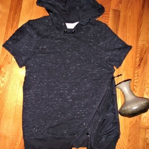Tops - Black Small woman hoodie sweat  shirt tunic top